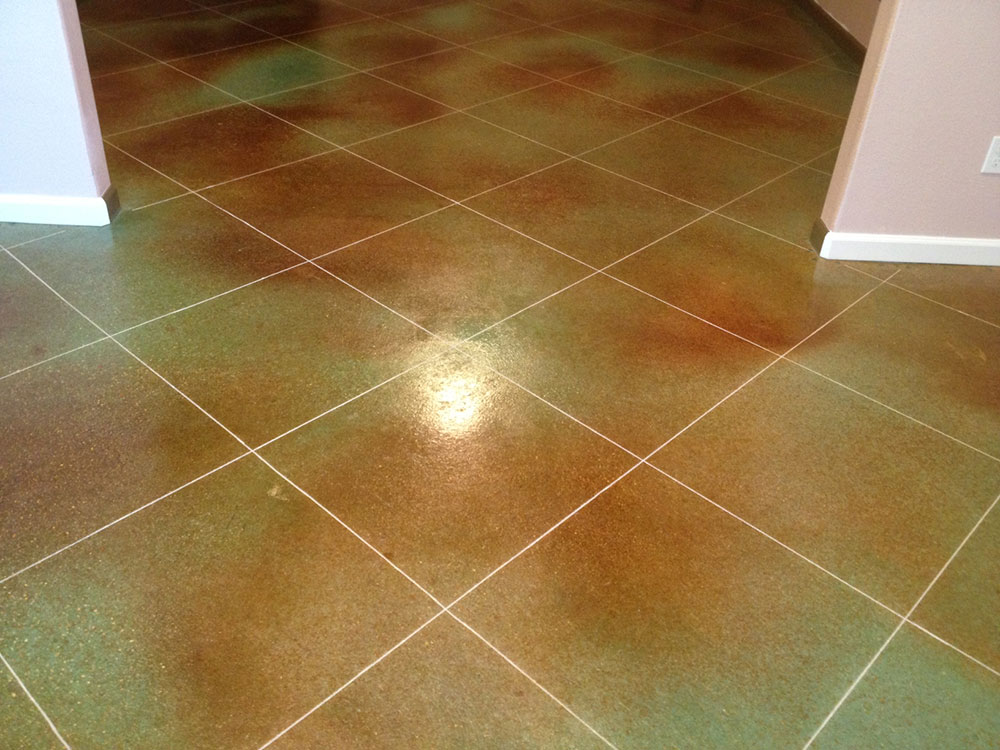 Stained Concrete Floors For Bats Garages